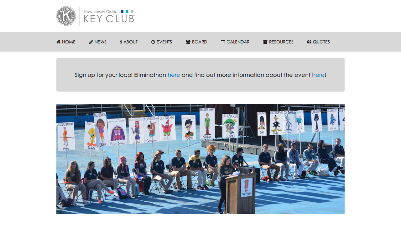 Website of the New Jersey District of Key Club International
